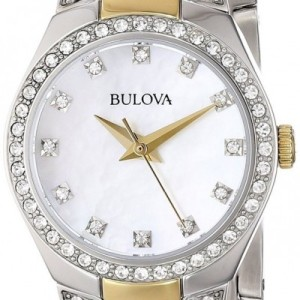 Bulova Crystal Accent Two Tone 98L198 Womens Watch